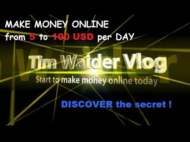 Tim Waider Vlog – start to make money online work from home