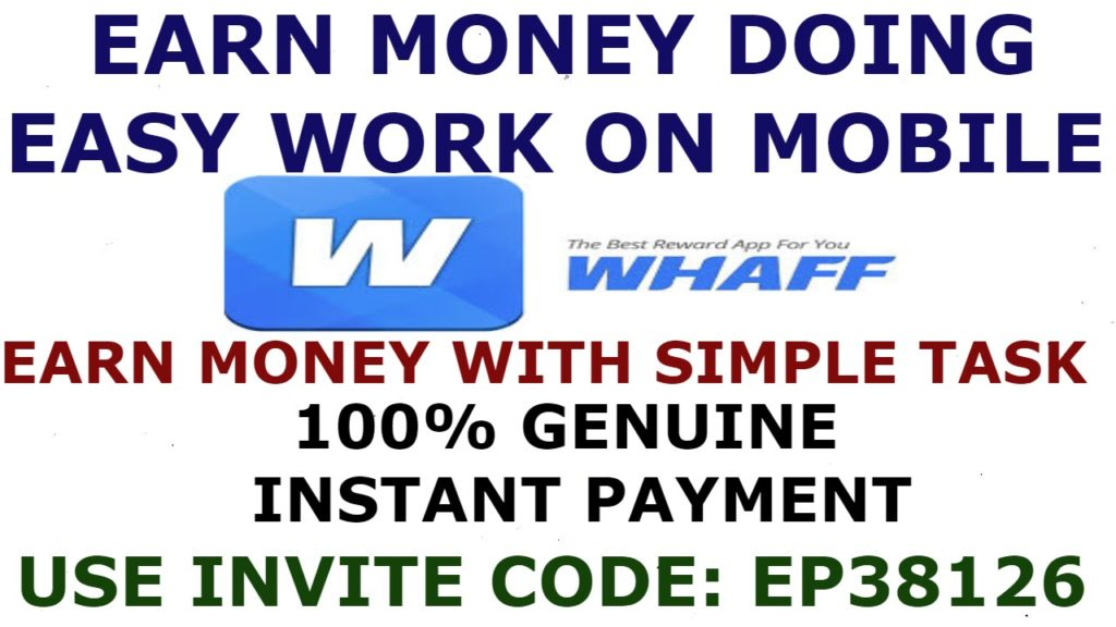 Earn online money easy work on mobile | online part time work on mobile whaff reward(EP38126)HINDI