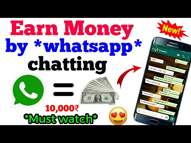 101℅ Real | How make money from whatsapp and Facebook chatting